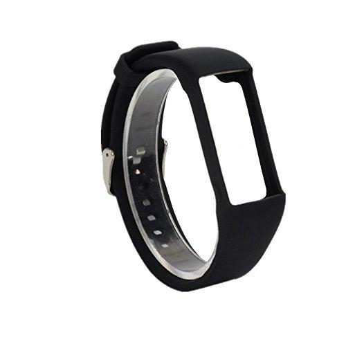 Meiruo Silikon Armband für Polar A360, Ersatzarmband für Polar A360(Schwarz)