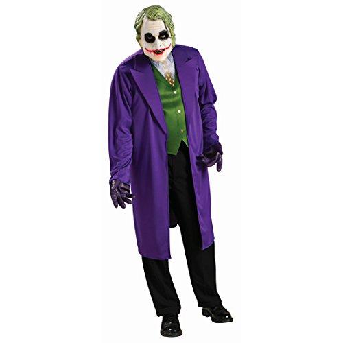 NET TOYS Costume de Joker Batman déguisement pour Homme M/L 50-54 Tenue de méchant de Batman The Dark Knight Tenue de Film Monstre déguisement d'halloween héros de BD Habit de Carnaval Hommes