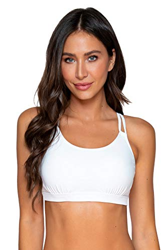 Sunsets Women's Taylor Bralette Bikini Top Swimsuit with Underwire, White, 32D