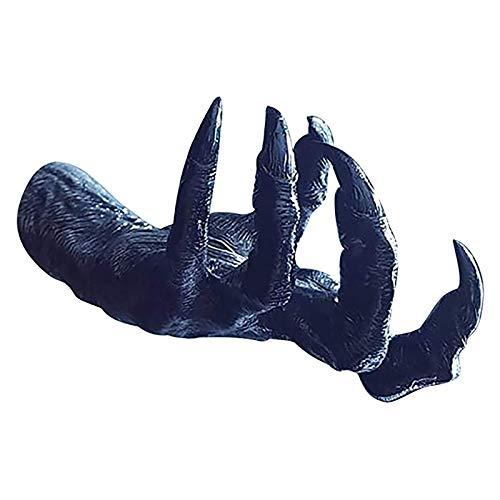 QIUMINGSS Hexenhand Wandbehang Statuen,Ästhetische Kunstskulptur,Harz Retro Wanddekoration,Kreativer Anhänger,Halskette/Ringlagerung,Hängen Sie Sich an den Schminktisch/Badezimmer