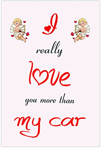 Ik hou van mijn auto thema-kaart - Valentijnsdag/verjaardag/verjaardagskaart voor hem of haar