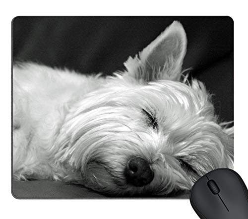 Cute Westie Terrier Dog Asleep POP Masterpiece Limited Design Oblong Mouse Pad by Cases & Mousepads