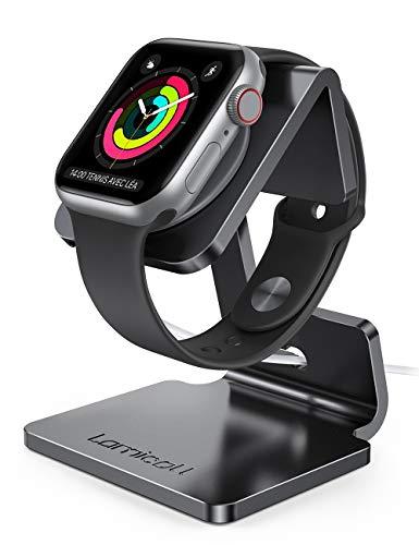 Lamicall Ladestation für Apple Watch, Charging Dock Station - Halterung Ständer kompatibel mit Apple Watch Series SE, iWatch Series 6/5 / 4/3 / 2/1, 44mm / 42mm / 40mm / 38mm - Schwarz