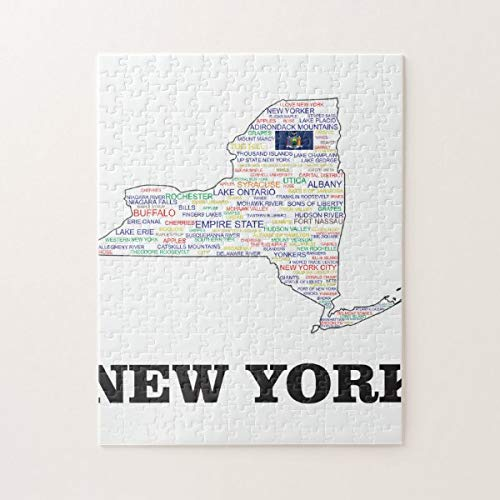 Christmas Jigsaw Puzzles, NY Word Cluster Jigsaw Puzzle Game with Posters for Adults Teens Kids Large Puzzle Game Toys Gift for Loves Family & Friends 38x52 CM