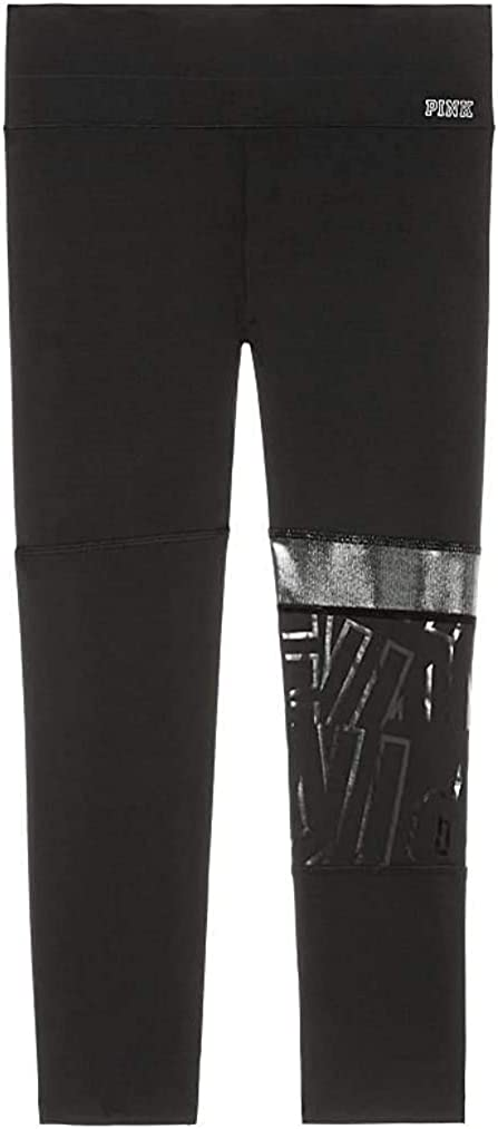 Victoria's Secret Pink Limited Edition Bonded Ultimate Crop Legging Size XSmall Color Black NWT