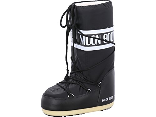 Moon Boot Nylon, Botas de Nieve Unisex Adulto, Negro (Black 001), 39-41 EU
