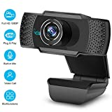 1080P HD Webcam with Microphone, Webcam for Gaming Conferencing, Laptop or Desktop Webcam, USB Computer Camera for Mac Xbox YouTube Skype