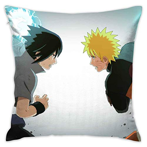 Gypsophila Pillowcase Naruto Decorative Throw Pillow Covers Cushion Cover for Home Sofa 18 X 18 Inch