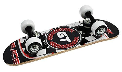 Truly Kinder Skateboard Mini 17 X 5, Schwarz/Rot, Zoll