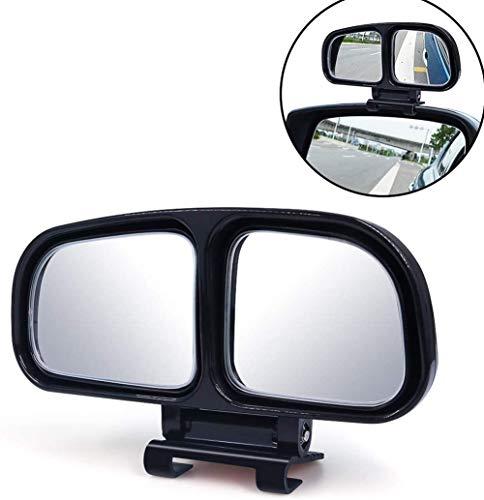 WPFC Car Rückfahrhilfsspiegel, Universal 360 Grad Justierbarer Weitwinkel Seitenrückspiegel, Hilfsspiegel Für Blind Side Außenspiegel,Schwarz