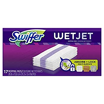 Swiffer Wetjet Hardwood Mop Pad Refills for Floor Mopping and Cleaning All Purpose Multi Surface Floor Cleaning Product 17 Count