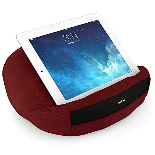 """padRelax Pro Tablet Cushion (Burgundy), Pillow Stand for devices up to 12.9"""", compatible with Apple iPads, tablets and eReaders, Made in Germany"""
