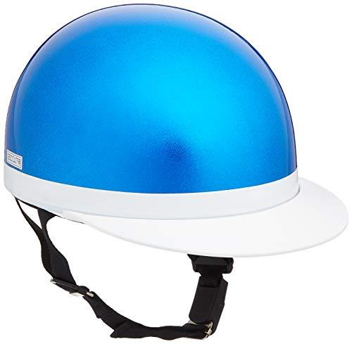 バイクパーツセンター ヘルメット ハーフ 白ツバ ブルーラメ フリーサイズ (頭囲 57cm~59cm未満) 710904