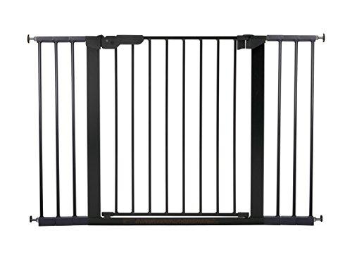 BabyDan Premier Türschutzgitter / Treppenschutzgitter zum Klemmen, 112 - 119.3 cm - hergestellt in Dänemark und vom TÜV GS geprüft, Farbe: Schwarz