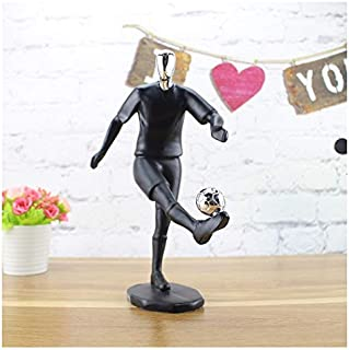 Statues-Li Modern Resin Football Player Figure Ornaments Abstract Soccer Man Statues Desktop Craft Home Decor Accessories Living Room Gifts (Color : Man)