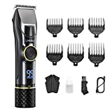 Limural 7 Hours Run Time Hair Clippers for Men Professional Cordless Hair Trimmer