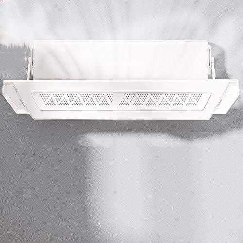 TIZJ Retráctil del acondicionador de Aire del Deflector Ajustable Deflector Parabrisas Anti Directa Blowing Deflector No Hay Necesidad de perforar o Pasta, for el hogar/Oficina - Blanco (Color : A)
