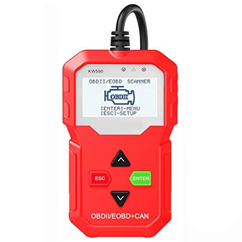 CARACHOME OBD2 Diagnosegerät, Autodiagnosetool OBD-Scanner für Kraftfahrzeuge mit 10 OBDII-Testmodi Unterstützung für Autos und Sprachen mit Mehreren Marken