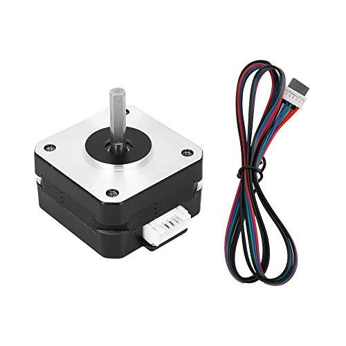 17Hs4023 Motor Paso A Paso, 0.7A 12V Nema 17 Motor Paso A Paso Cable de 4 derivaciones Suministros Eléctricos Para Impresora 3D