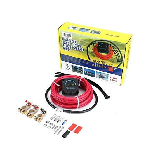 Rumors 12V 140A Aislador de batería Voltaje Sensible al relé VSR Ajuste automático Ajuste para Polaris para embarcaciones de Gato artístico, RV (Color : 1 Set)
