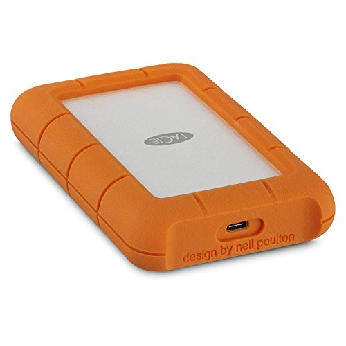 LaCie Rugged 4TB USB-C and USB 3.0 Portable Hard Drive + 1mo Adobe CC All Apps (STFR4000400)