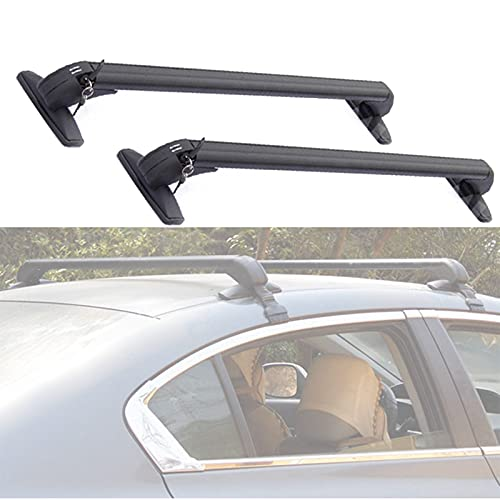 TERMALY Roof Rack Cross Bars, Universal Lockable Luggage Carrier Aluminium Alloy Cargo Carrier Rooftop Luggage Bars 2 Pcs Automotive Exterior Accessories,A100cm