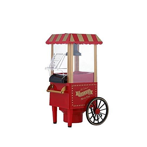 KOUPA Retro Mini-Popcorn-Maschine, Heißluft-Popcorn-Maschine, Popcorn-Maschine für professionelle Konzessionäre Geeignet für Familien, Partys, kreative Kindergeschenke, Rot