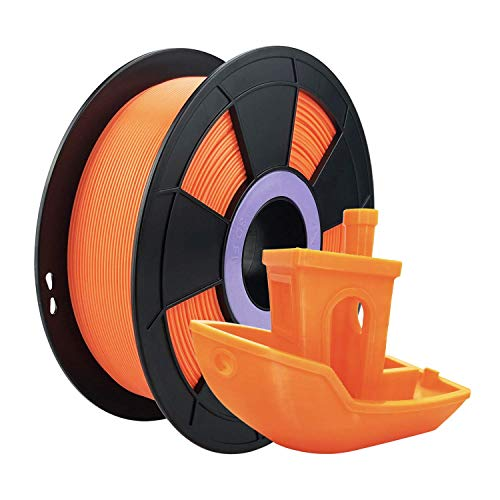 ZIRO PLA Filament 1.75mm,3D Printer Filament PLA Fluorescence Series 1.75 1KG(2.2lbs),Dimensional Accuracy +/- 0.03mm,Fluo Orange