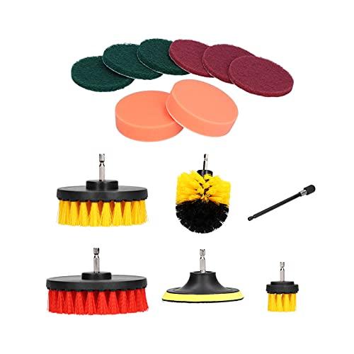 Depurador sónico, juego de cepillos de taladro eléctrico giratorio para alfombras de artículos sanitarios, baldosas limpias para el suelo de la piscina para las grietas de la bandeja de
