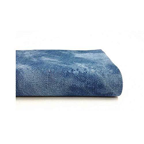 Tie-dye denim stof stof katoen kleding DIY handgemaakte sofa kussen tas 150 cm breed (150cm * 50cm) (Color : Blue)