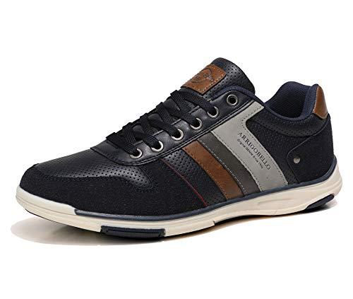 AX BOXING Freizeitschuhe Herren Sneaker Walkingschuhe Berufsschuhe Wanderschuhe Trainers Größe 41-46 (Blau, Numeric_45)
