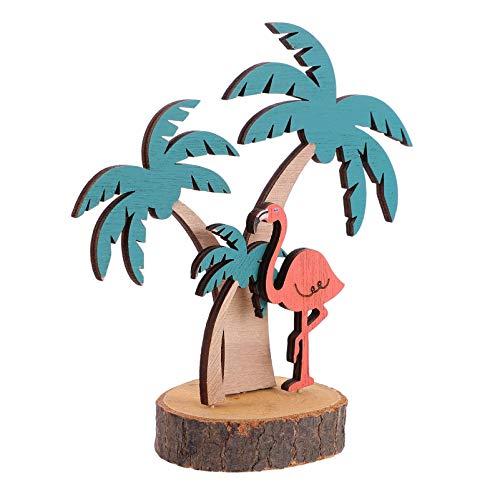 ifundom Luau Party Signs Flamencos Señal de Mesa Tiki Decoración de Mesa de Fiesta de Verano Tropical Hawaiano Centro de Mesa para Vacaciones de Verano Escritorio Ornamento de Mesa