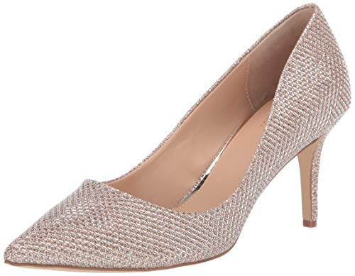 Jewel Badgley Mischka Women's RUDY Shoe, Champagne Fabric, 7 M US