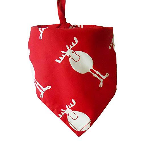 MYYXGS Hund Schal Weihnachten Haustier Speichel Handtuch Baumwolle Dreieck Schal Hund Schal Katze Schal (2 StüCk)