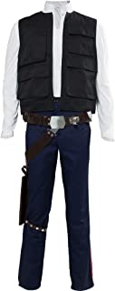 Men's Halloween Uniform Outfit for Han Solo Costume Belt Compatible Droid Caller Canister