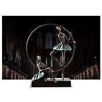 CXF- 工芸・クラフト 樹脂オフィスバレエ少女リビングルームの装飾クリエイティブテレビキャビネットシンプルな現代ヨーロッパの家の装飾工芸品 (色 : C)