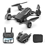 Drone con cámara 4K HD para adultos y niños, cuadricóptero plegable con video en vivo FPV gran angular, vuelo de trayectoria, control de aplicaciones, flujo óptico, retención de altitud, para adultos