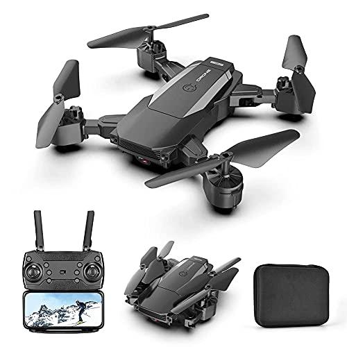JJDSN Drone con cámara 4K HD para Adultos y niños, cuadricóptero Plegable con Video en Vivo FPV Gran Angular, Vuelo de trayectoria, Control de Aplicaciones, Flujo óptico, retención de altitud, par