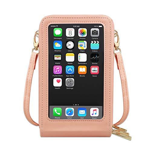 Pequeñas bolsas de teléfono Crossbody para las mujeres, bolso multi bolsillo hombro teléfono celular monedero para viajes