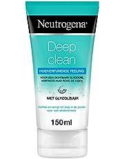 Neutrogena Deep Clean huidverfijnende peeling, zachte waspeeling met glycolzuur, reinigingspeeling, bescherming tegen schadelijke stoffen van buitenaf, 1 x 150 ml