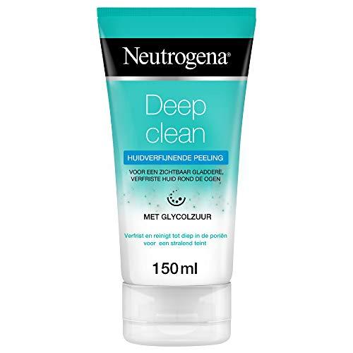 Neutrogena Deep Clean Gesichtsreinigung, Hautbildverfeinerndes Peeling mit Glycolsäure, für jede Haut, 150ml