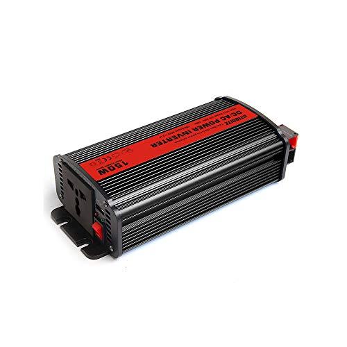Litionite Raptor 150W Professioneller Inverter mit Reiner Sinuswelle für Fahrzeuge/Auto - 1x Universalsteckdose - 1x USB - Adapterkabel für Zigarettenanzünder - Wechselrichter von 12V auf 220V