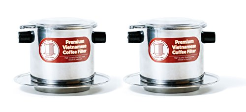 Kaffeefilter-Set, vietnamesische Kaffeebereiter oder -presse, extra groß Medium (8 oz) edelstahl