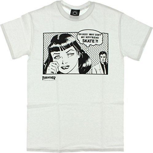 Thrasher Boyfriend Short Sleeve M-White T-Shirt by Thrasher