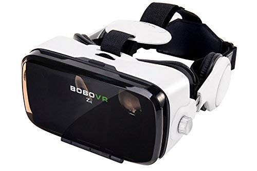 amzWOW BOBOVR Z4 Glasses VR Viewer 3D 360 ° Virtual Reality, for Smartphones from 4 to 6 Inches, Adjustable Focus, Integrated Stereo Headphones, Anti-overheating and Anti-Angle Blanco