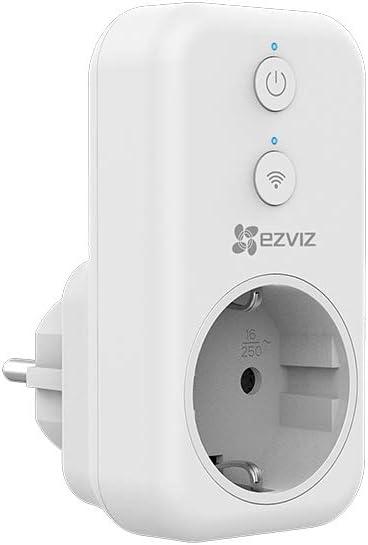 EZVIZ Enchufe Inteligente Wi-Fi con Control Remoto, Smart Plug Mini Tamaño sin Necesidad de Concentrador, Funciona con Móvil App, Compatible con Alexa, Amazon Echo & Google Home, T31