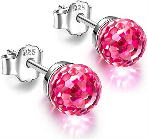 Crystal Element Crystal S925 - Pendientes de bola (6 mm), a,