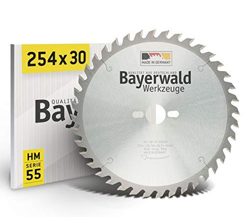 Disco de sierra de mesa Bayerwald, diámetro de 254mm x 2,8mm x 30mm, dientes intercambiables, agujeros para la Bosch GTS 10y PTS 10
