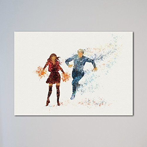 Quicksilver and Scarlet Witch Print Avengers