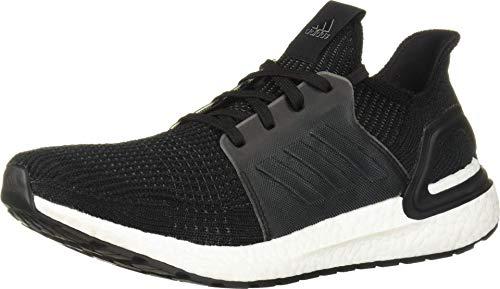 adidas Men's Ultraboost 19 Running Shoe, Black/White, 13 M US
